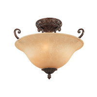 Designers Fountain Amherst 3 Light Semi Flush Mount