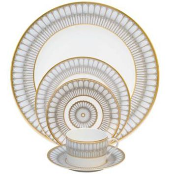 Philippe Deshoulieres Arcades Dinnerware Collection in Grey