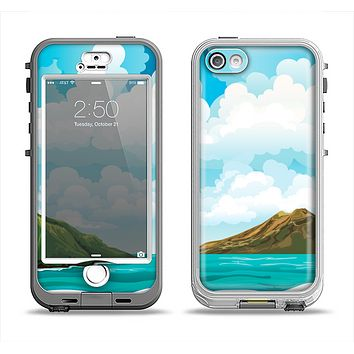 The Mountain & Water Art Color Scene Apple iPhone 5-5s LifeProof Nuud Case Skin Set