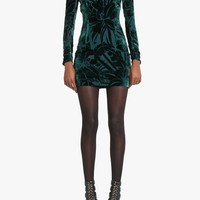 Balmain - Devore velvet mini dress - Women's dresses