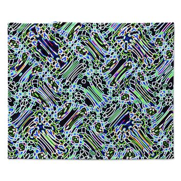 "Dawid  Roc ""Camouflage Pattern"" Teal Mixed Media Fleece Throw Blanket"