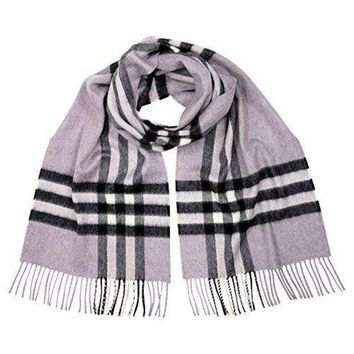 VONE05 Burberry Women's Classic Check Scarf Dusty Lilac