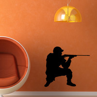 Vinyl Wall Decal Sticker Military Shooter #OS_MB1012