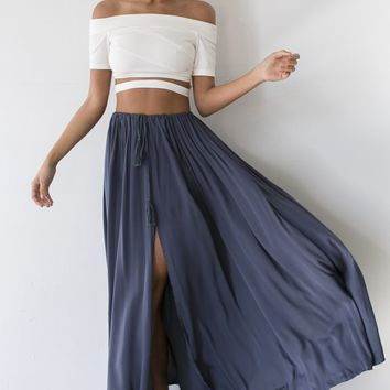 Against The Tides Maxi Skirt Storm