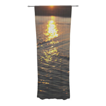 "Libertad Leal ""Still Waters"" Sunset Decorative Sheer Curtains"
