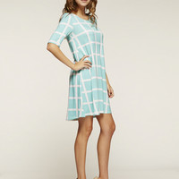 Checkered Pattern Spring Tunic
