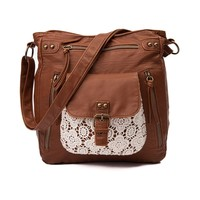 Womens Crochet Crossbody Handbag