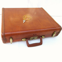 Vintage Samsonite Briefcase, Travel Case, Samsonite Suitcase, Hard Case, Storage Pouch, Movie Prop