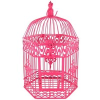 Pink Hexagon Metal Bird Cage | Shop Hobby Lobby