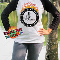 Design Your Own Personalized T shirt Custom Danny Hatrick Flaming Skull T Shirt Unisex Baseball Your Text Here Team Shirts School Shirts