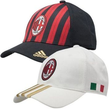 adidas Performance Mens ACM AC Milan Baseball Cap Football Golf Tennis Summer