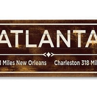 """Atlanta"" Wall Sign, Natural, Signs"