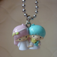 Little Twin Pink Charm Necklace