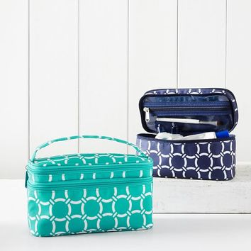 Ultimate Travel Makeup Pouch, Geo Rings