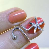Starfish Ring Nail Art Finger Ring