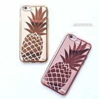 Gilt Pineapple' - Clear Case Cover
