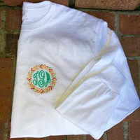 Short sleeve Monogrammed Arrow Tshirt- Many colors to choose from