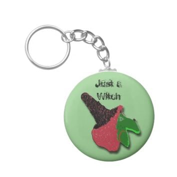 Just a Witch Keychain