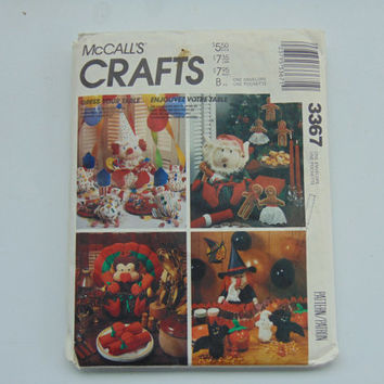 McCalls 3367 Sewing Pattern for Christmas Holiday Table Centerpieces Crafts