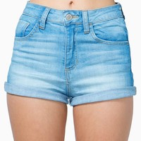 Hippie Hi Waist Roll Cuff Short
