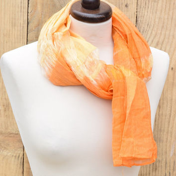 Women Scarf Orange, Elegant Wrap, Women's Scarf Orange Evening Wrap Shawl Long Women's Scarf Designer Shawl Evening Wrap Gift idea for Her