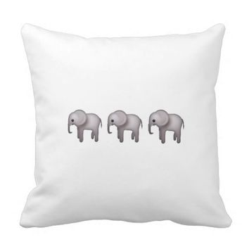 Elephant Emoji Pillow