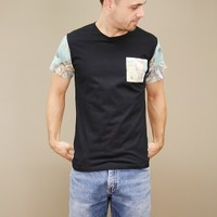 tropical chain t-shirt by Civil Clothing with contrasting chest pocket | shopcuffs.com