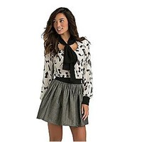 Kardashian Kollection- -Women's Chiffon Blouse - Fashion Print-Clothing-Women's-Tops