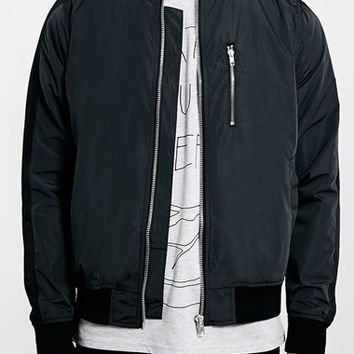 Men's Topman Mesh Lined Bomber Jacket,