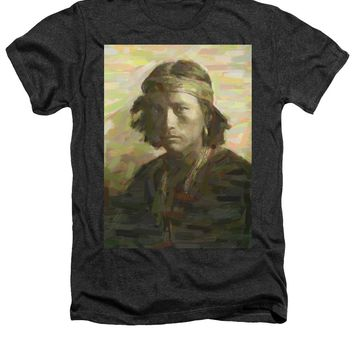 Portrait Of A Navajo Youth 1 - Heathers T-Shirt