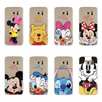 Silicone Phone Case For Samsun S6 S7 Edge Note 4 Note 5 A3 A5 A7 A8 J1 J5 J7 S3 S4 S5 Mini Mickey Minnie Donald Daisy Duck Pooh
