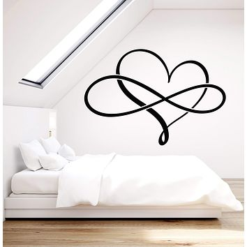 Vinyl Wall Decal Love Forever Heart Symbol Of Infinity Stickers (2960ig)