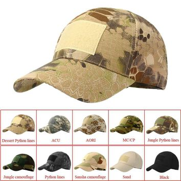 Outdoor Sport Snapback Caps Camouflage Hat Simplicity Tactical Military Hunting Cap Hat For Men
