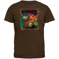 Grateful Dead - Covered Wagon Chocolate Youth T-Shirt - Youth Large