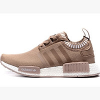 "Women ""Adidas"" NMD Boots  Casual Sports Shoes Khaki white soles"