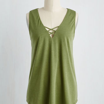 Concourse of Action Top in Olive | Mod Retro Vintage Short Sleeve Shirts | ModCloth.com