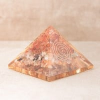 Orgone Copper and Carnelian Pyramid