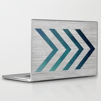 Blue Arrow Laptop & iPad Skin by LouJah