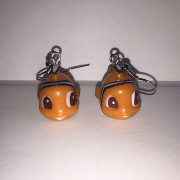 Squinkies Earrings - Nemo - made from re-purposed toys