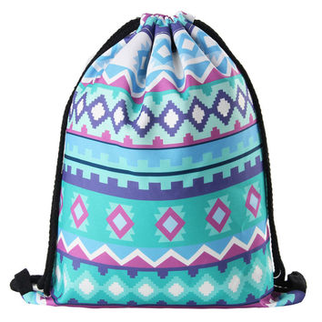 Aztec Boho Festival Drawstring Backpack