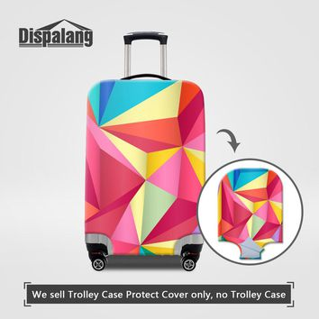 Dispalang fashion luggage suitcase protective cover for 18 20 22 24 26 28 30 inch trunk case Geometric design travel accessories