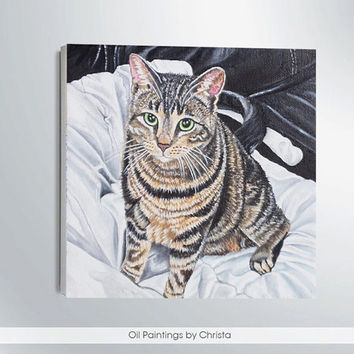 Pet portrait Custom cat portrait Cat lovers gift Cat painting Custom portrait Custom dog portrait Memorial art Custom pet portrait Cat art
