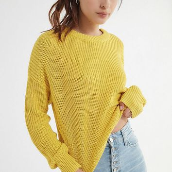 UO Andi Pullover Crew-Neck Sweater | Urban Outfitters