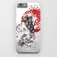Madame Butterfly iPhone & iPod Case by Marine Loup
