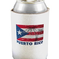 Distressed Puerto Rico Flag Can / Bottle Insulator Coolers