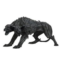 Cerberus Three Headed Dog Beast Statue 8L, Assorted Colors