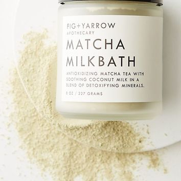 Fig + Yarrow Matcha Milk Bath Jar