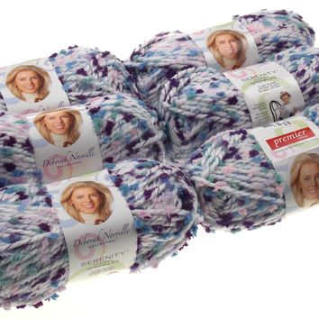 Premier Yarns Deborah Norville Serenity Sprite Color Lot of 6 Skeins Balls
