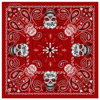 Official 2014 Sturgis Motorcycle Rally Sugar Skull Red Bandana