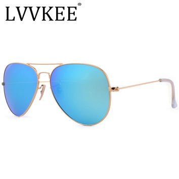 Luxury Classic Brand men women driving glass lenses Gradient Aviator sunglasses 58mm 3025 Mirror oculos de sol sun glasses G15